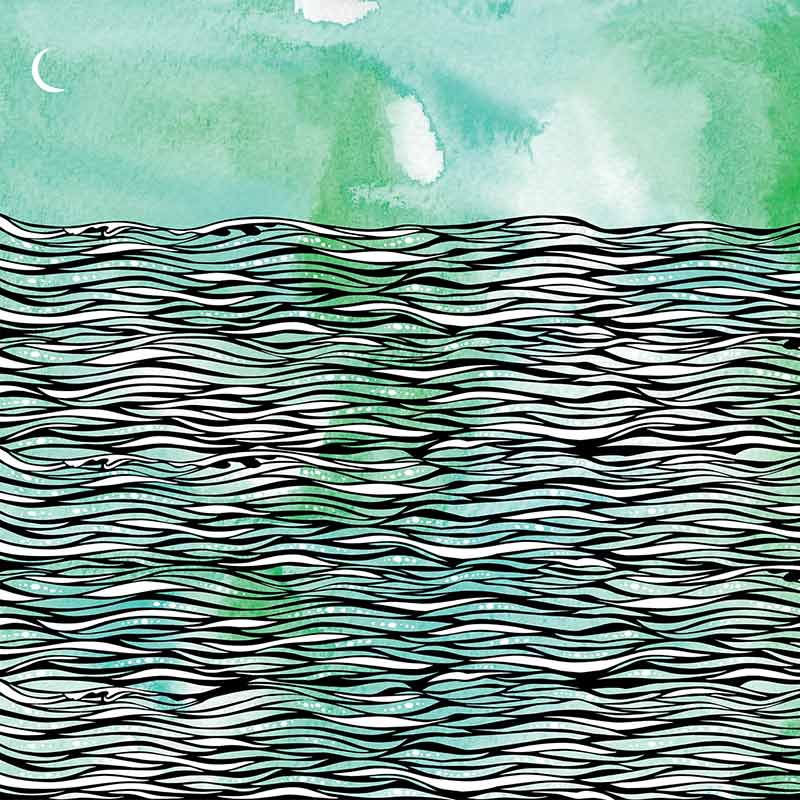 Background image with inky waves over a watercolor texture