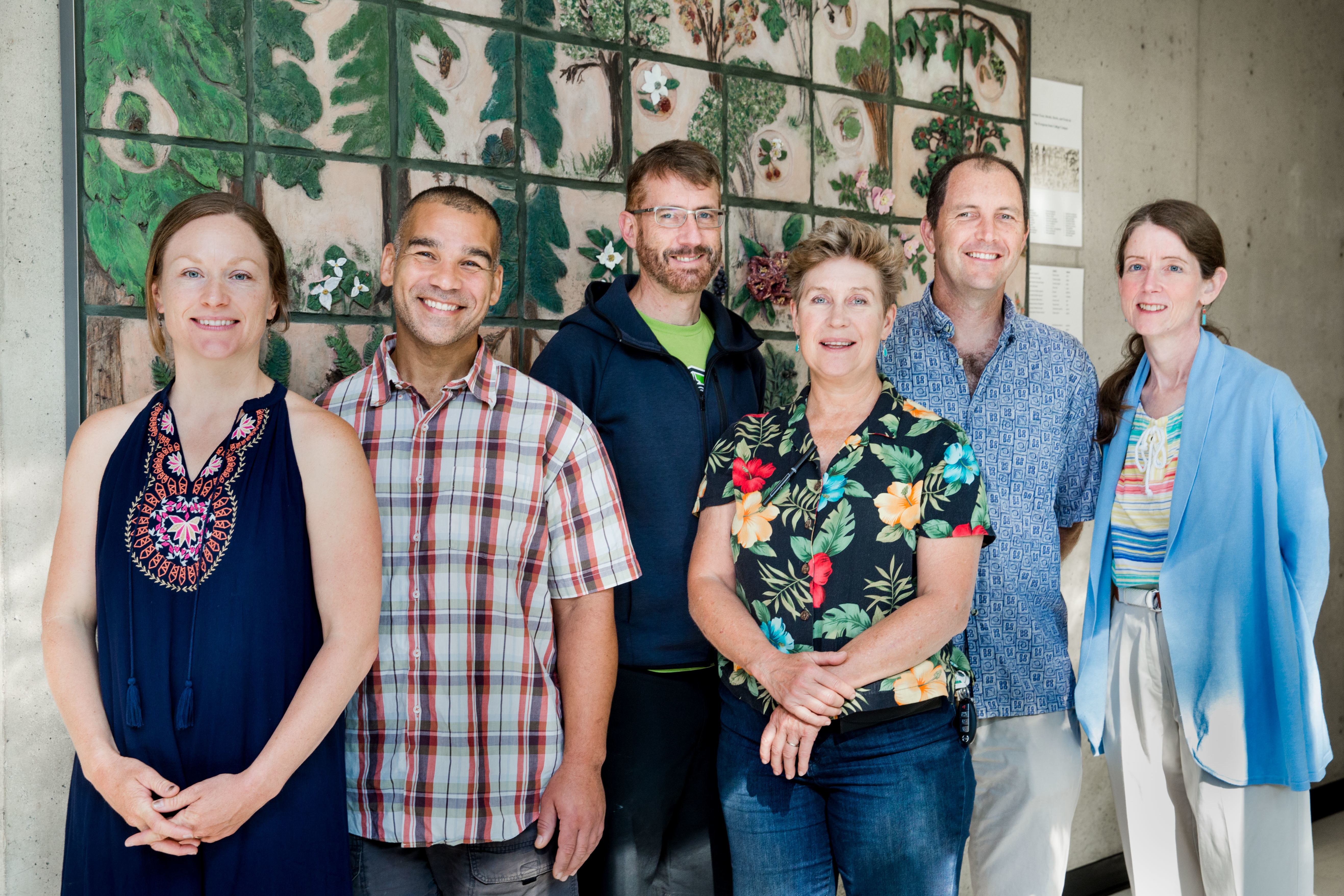 The 2018-19 MES Faculty group of Shawn Hazboun, Tyrus Smith, Kevin Francis, EJ Zita, John Withey, and Kathleen Saul
