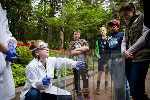 Evergreen Chemistry Faculty Inspires Middle School Girls to Pursue Careers in Science