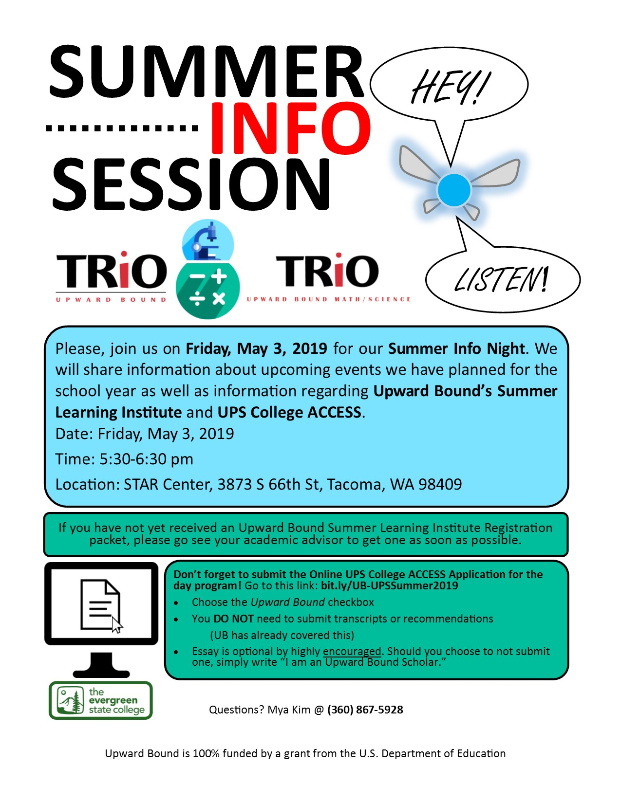 5-3-19 Information Night Flyer jpg | The Evergreen State College