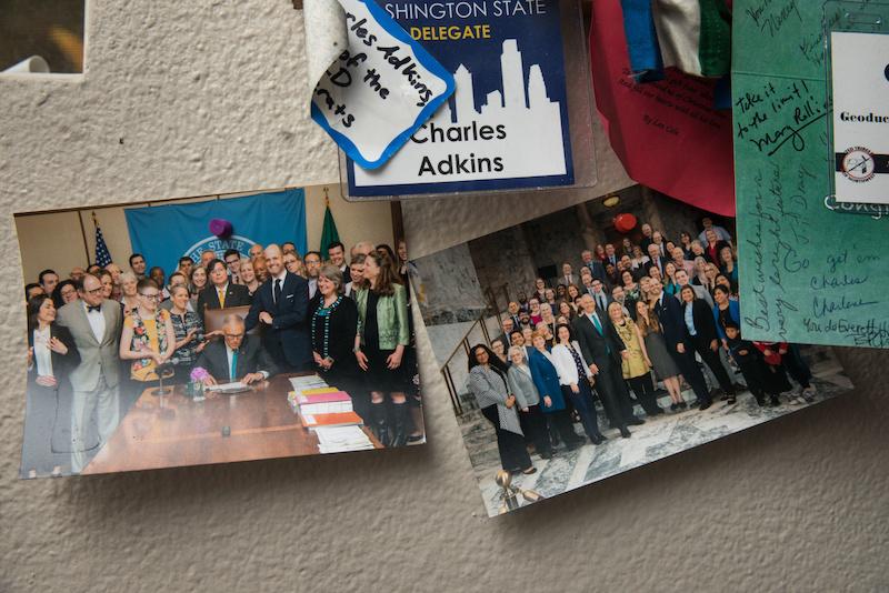 Adkins' political memorabilia