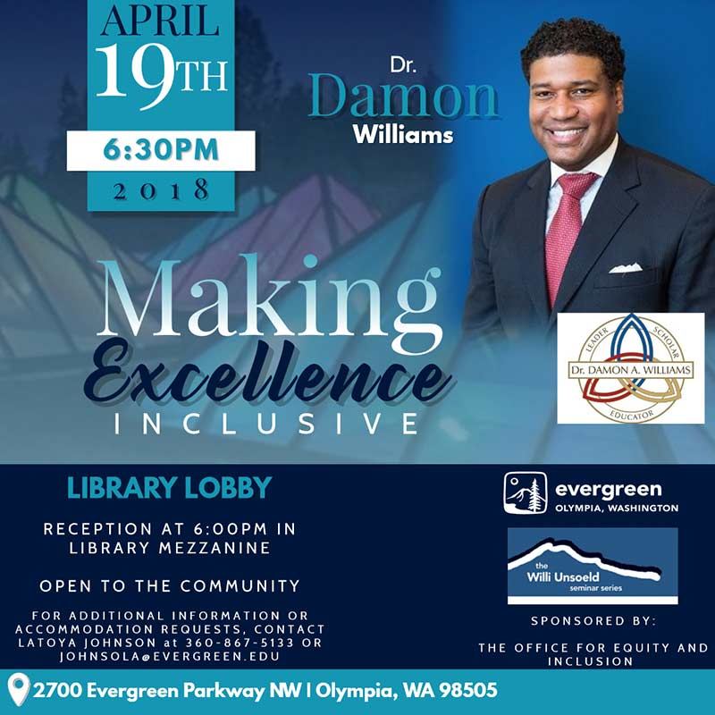 Making Excellence Inclusive seminar with Dr. Damon Williams