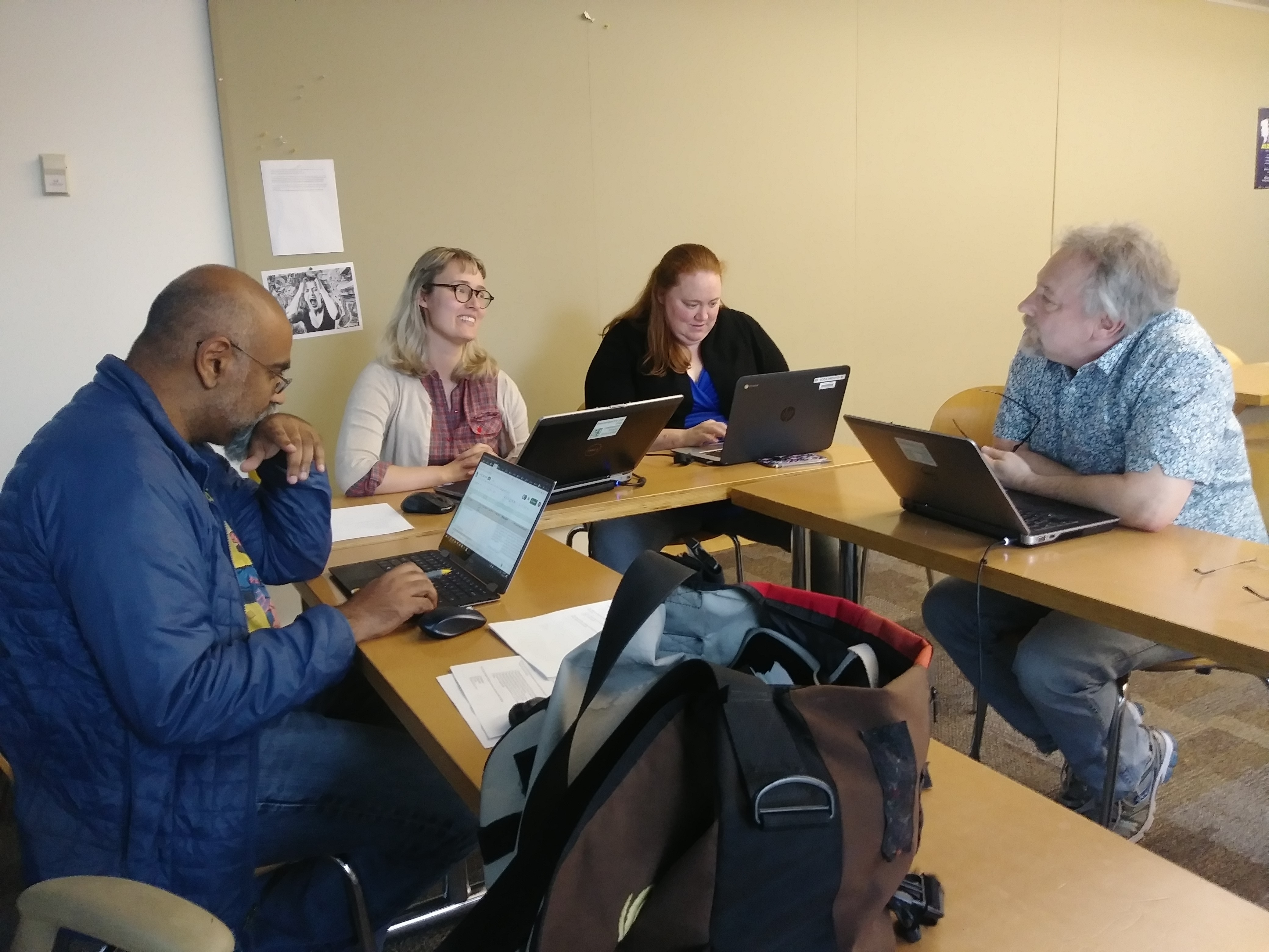 Academic statement group at work