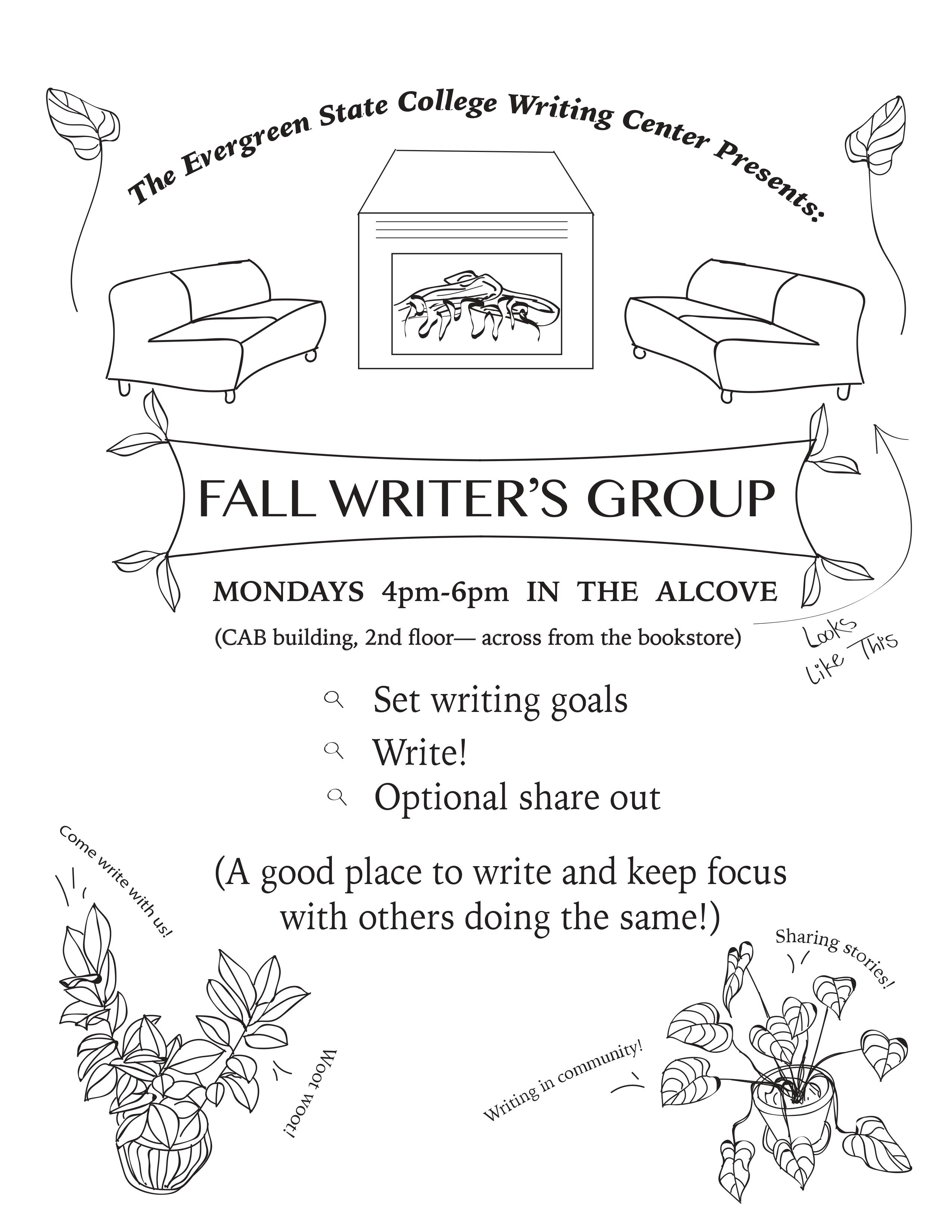 Fall Writing Group Flyer 2019