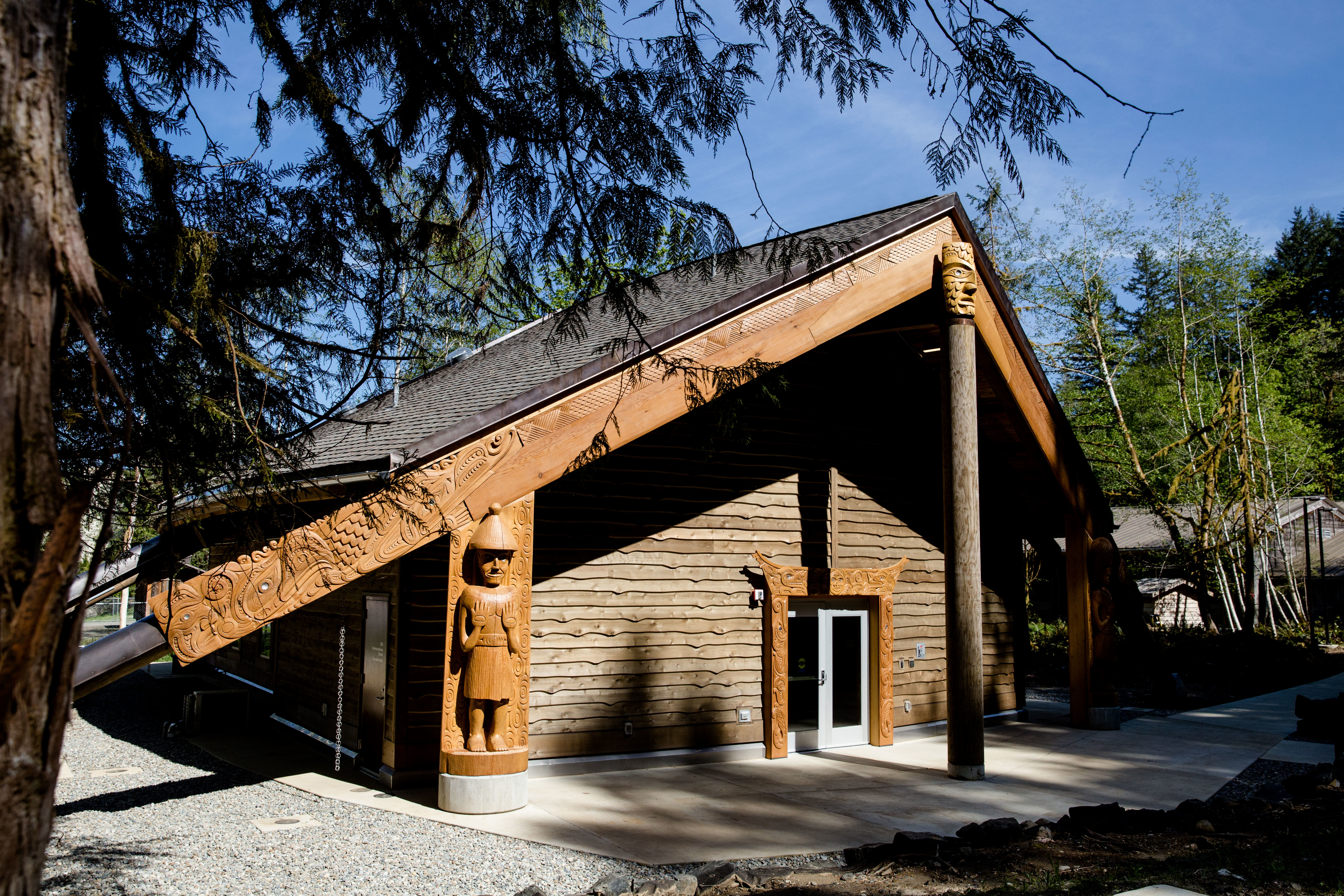 Exterior of the Longhouse Fiber Arts Studio