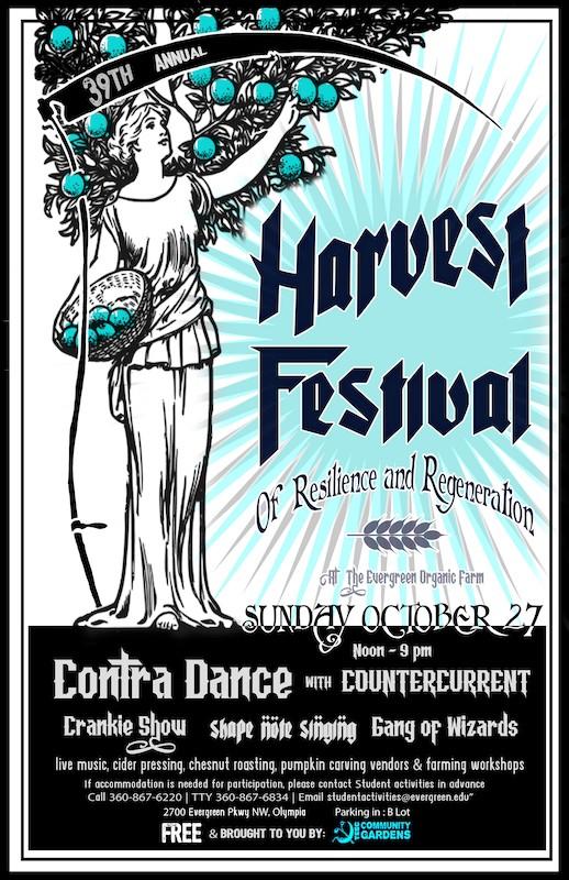 Harvest Festival poster.