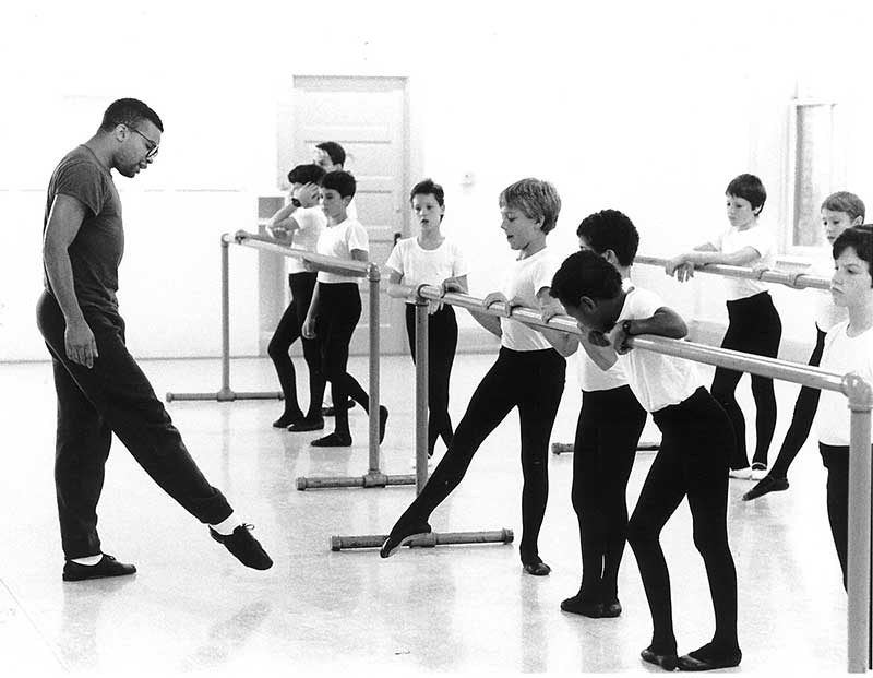 Kabby Mitchell III teaches PNB Boys class