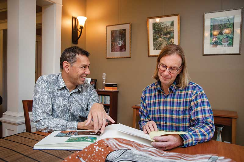 Glen Kriekenbeck '89 and Quentin King '84 met at Evergreen's Gay Resource Center, a precursor to the modern TQC, in the 1980s. They've since married.