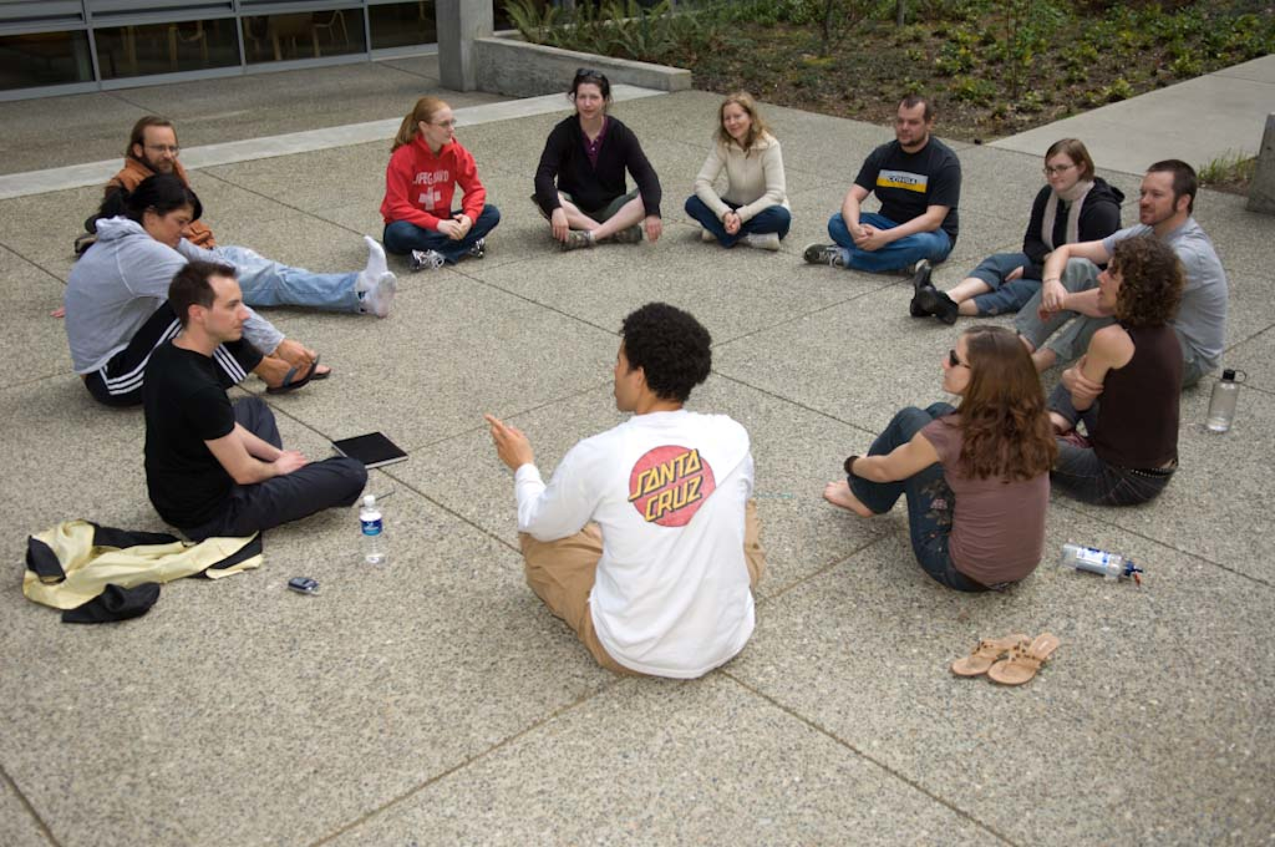 Outdoor Group Circle Talk