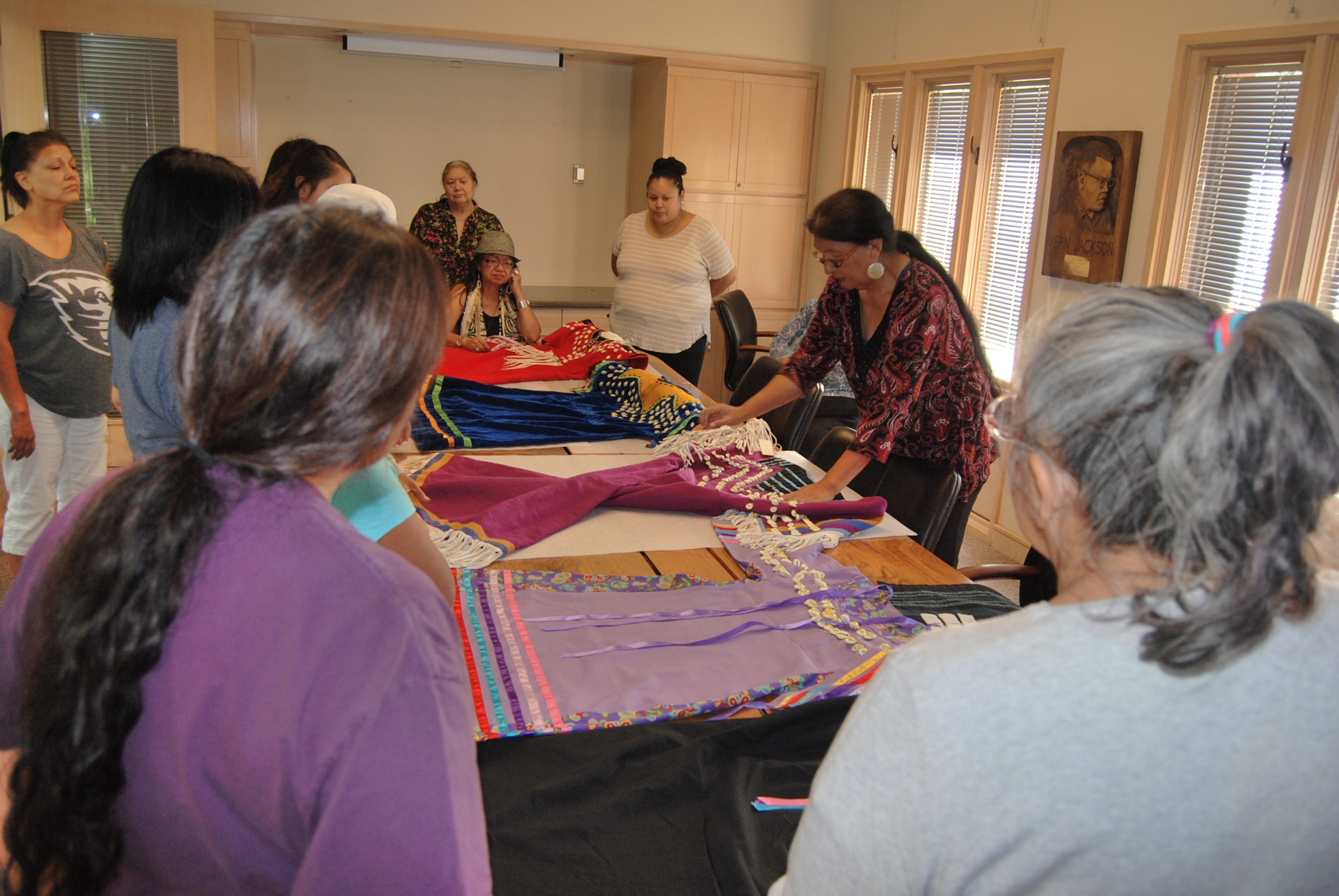 Plateau dressmaking workshop participants at The Museum at Warm Springs