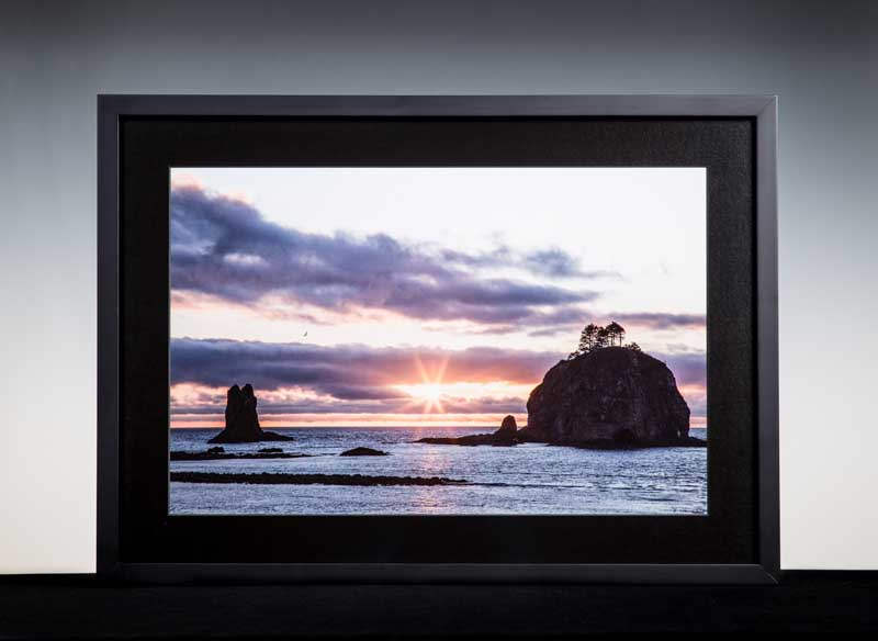 """A Moment in LaPush by Ricky Osborne. Photographic giclee, 20""""x24"""". Donated by Ricky Osborne '16."""
