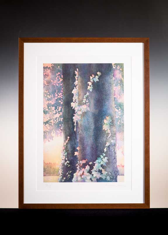 """Ivy by William Winden. Limited edition watercolor reproduction, 24""""x36"""". Donated by Childhood's End Gallery."""