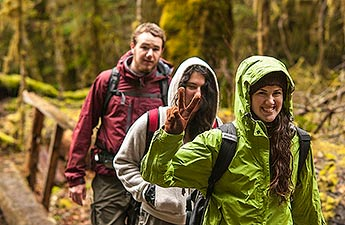 Students at Capitol State Forest