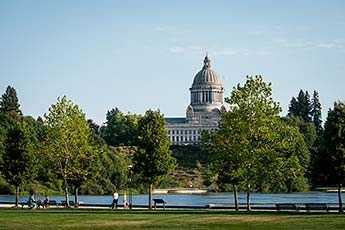 The Washington State Capitol and Capitol Lake