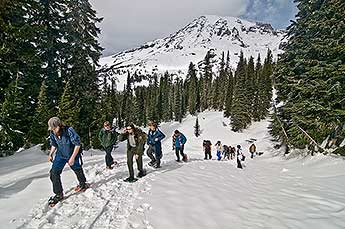 Students on Mount Rainier
