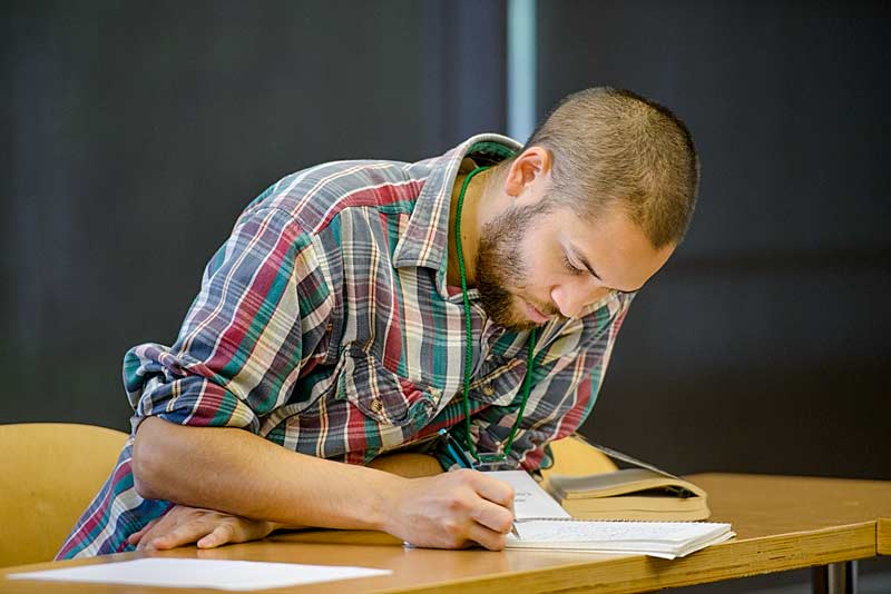 A student writes his academic statement