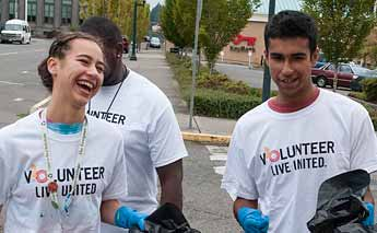 Volunteering Downtown Olympia