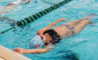 Swimming in the Evergreen Pool