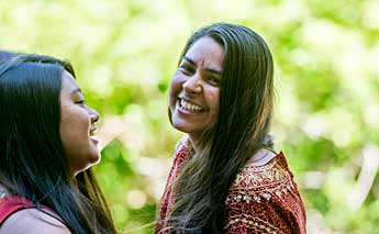 A diverse group of Evergreen students