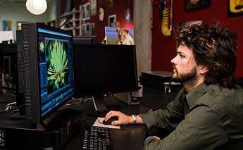 Working in the Digital Imaging Studio
