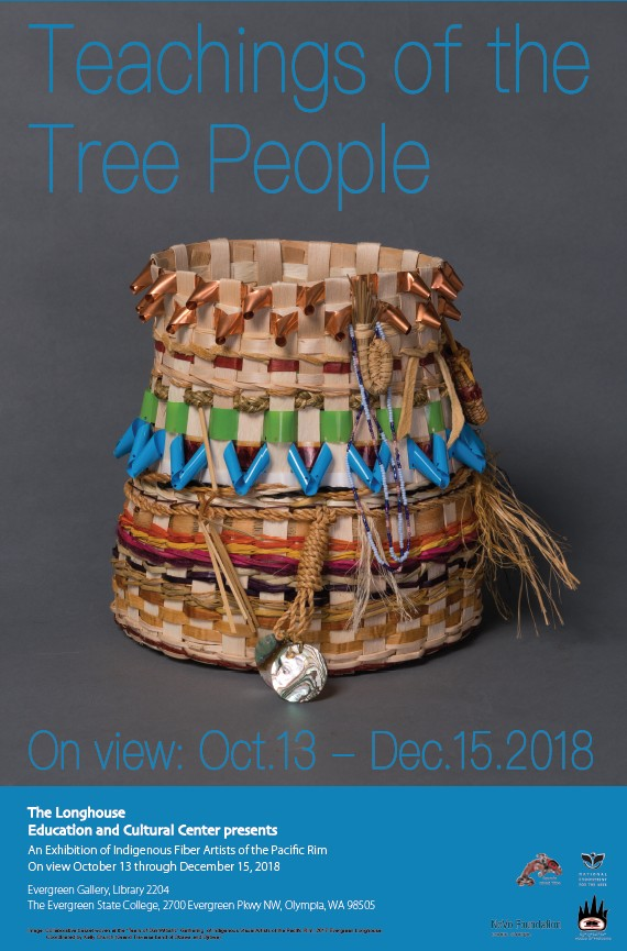 Teachings of the Tree People Exhibition flier (October 13-December 15, 2018 at the Evergreen Gallery)