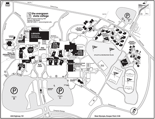 Western Oregon Campus Map.Tours And Maps The Evergreen State College