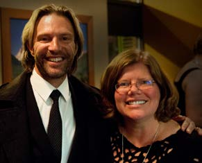 Composer Eric Whitacre with Sean Williams
