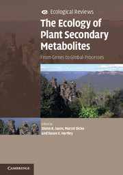 The Ecology of Plant Secondary Book Image