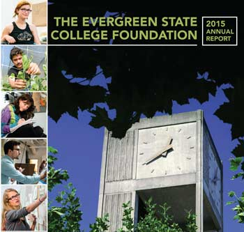 Cover of the 2015 Annual Report for The Evergreen State College Foundation