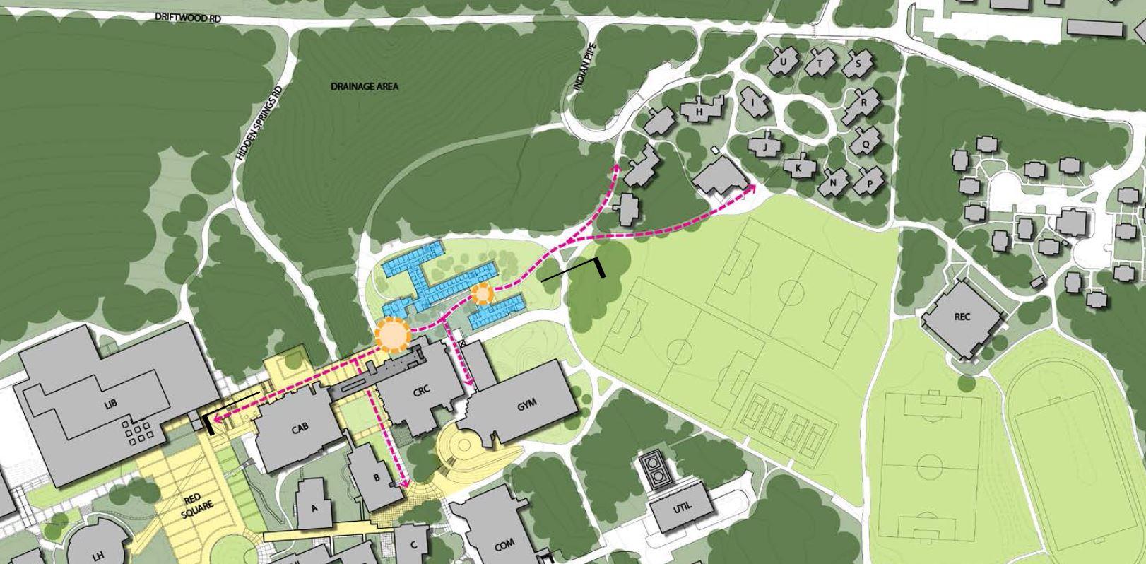 FYSH on campus map