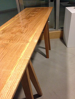 Table, designed and built by Evergreen staff and students