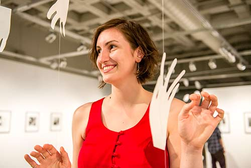 Evergreen Student Claire Magula's thesis show titled