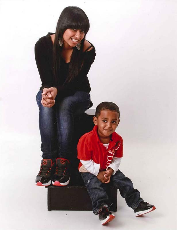 Karen Dhaliwal and son