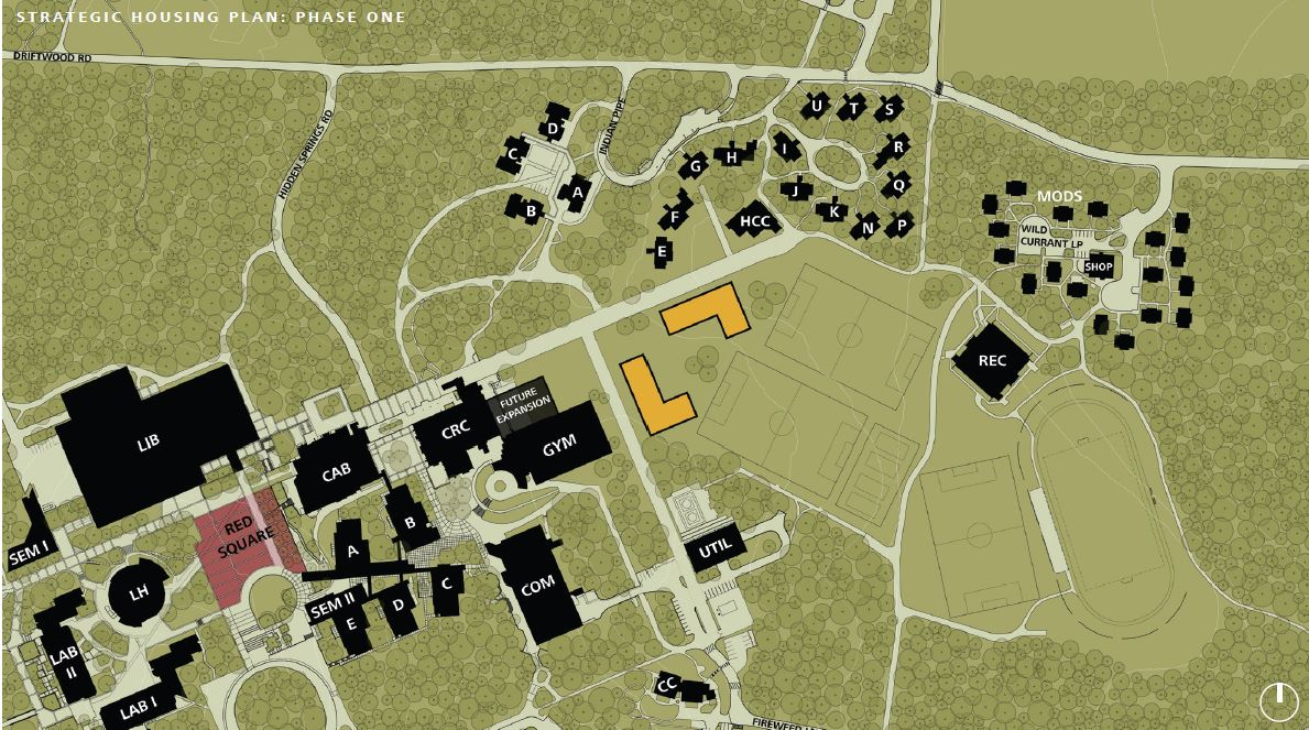 possible location for new campus housing