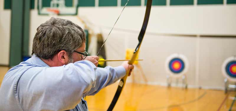 Indoor archery at the CRC
