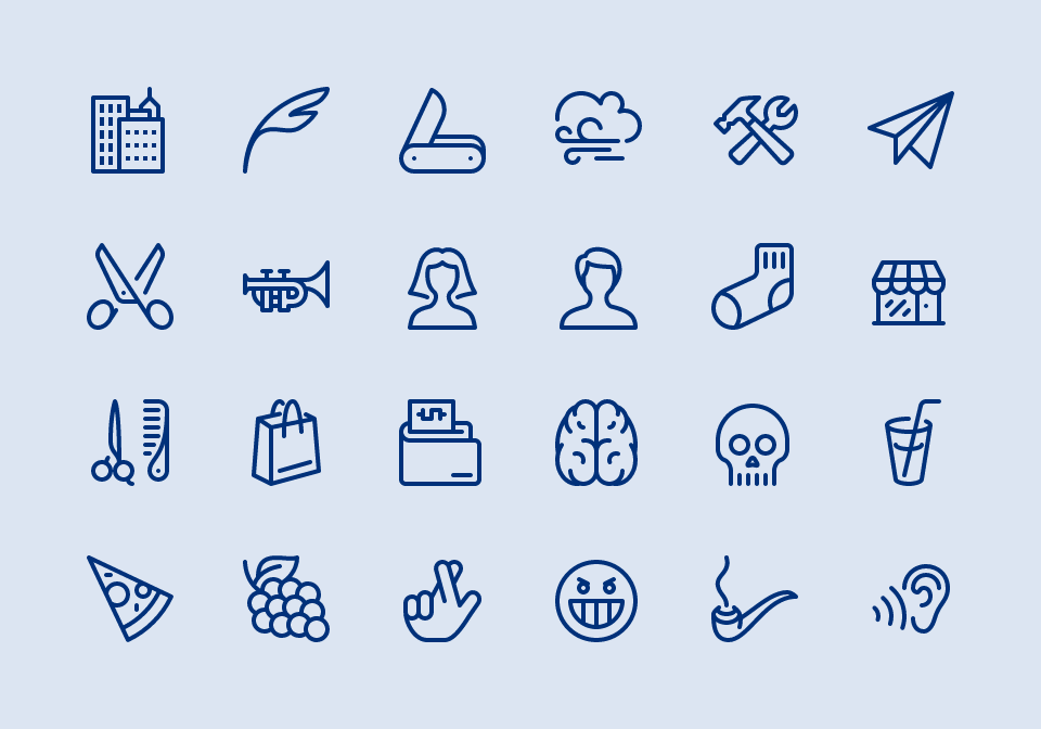 Linearicons, an outline-style icon set.