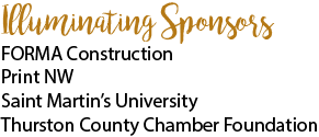FORMA Construction, PrintNW, Saint Martin's University, Thurston County Chamber Foundation