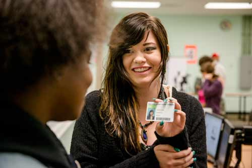 Your student ID card is also your library card.