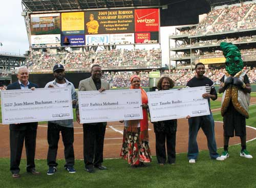 jackie robinson scholarship recipients at safeco field