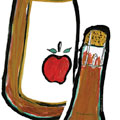 illustration of cider bottle