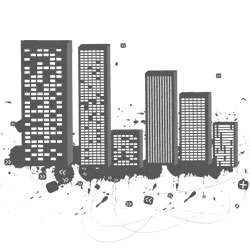 city scape graphic