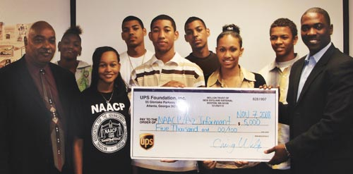 Members of Maricopa County NAACP Youth Council accept a grant from the UPS Foundation