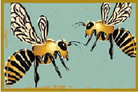 Illustration of Honey Bees