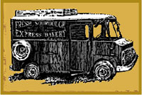 Illustration of food cart