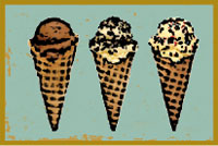 Illustration of ice cream cones