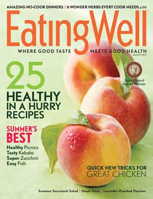 Cover image of Eating Well magazine.