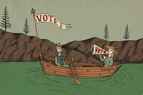 Get Out the Vote Illustration