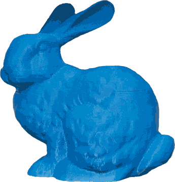 A 3D-printed rabbit