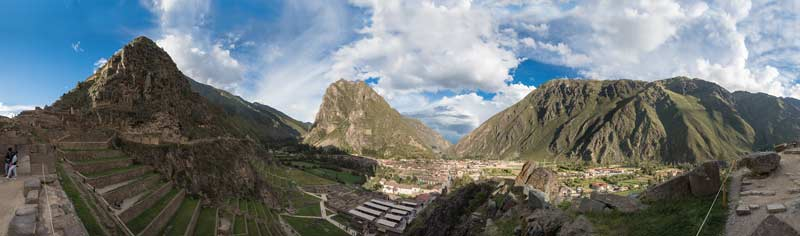The rural town of Ollantaytambo, Peru.