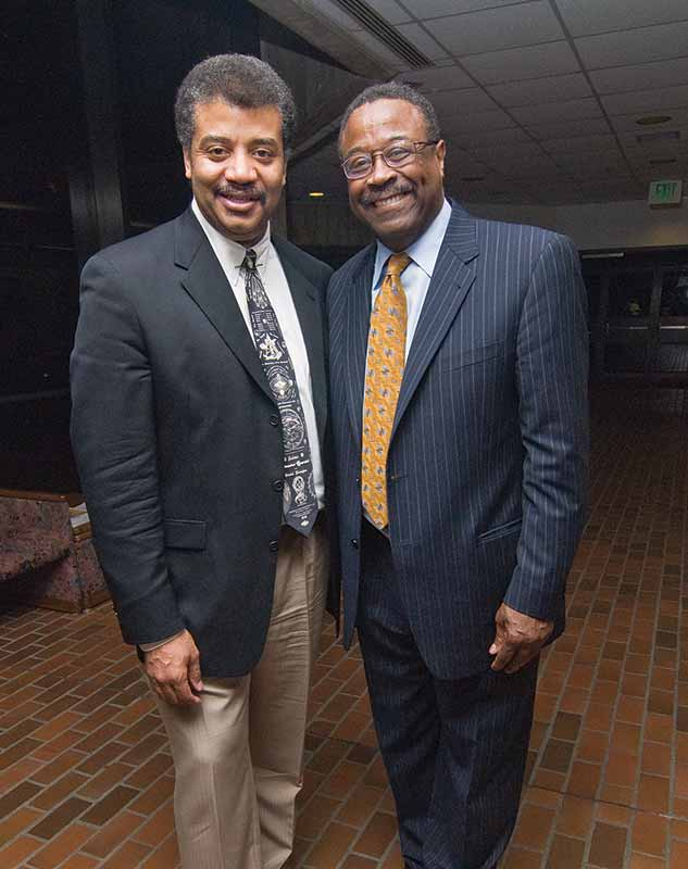 Purce meeting Neil deGrasse-Tyson